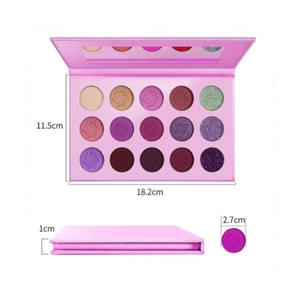 15 Piece Eyeshadow palettes 8