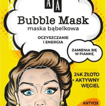 yellow bubble mask