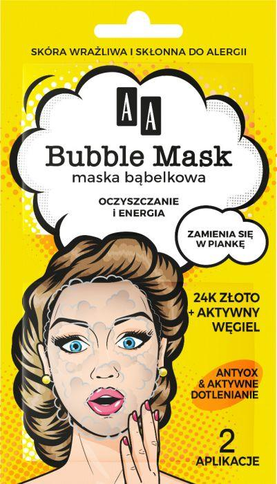 yellow bubble mask