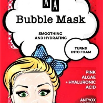 pink algae bubble mask