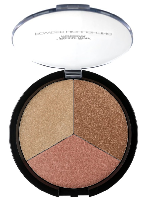 3 shades highlighting powder palette
